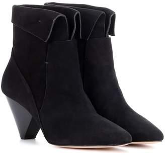 Veronica Beard Lauren suede ankle boots
