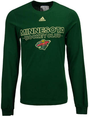 adidas Men's Minnesota Wild Frontline Long Sleeve T-Shirt