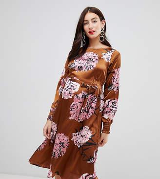 Mama Licious Mama.licious Mamalicious maternity bold floral satin midi dress