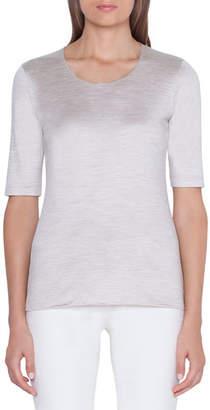 Akris 1/2-Sleeve Silk-Jersey T-Shirt