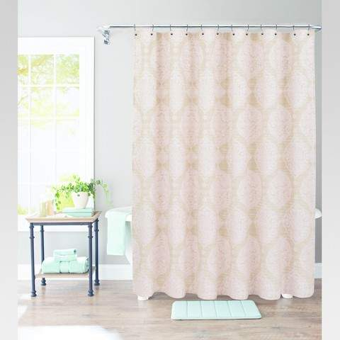 Moroccan Medallion Shower Curtain Belle Pink