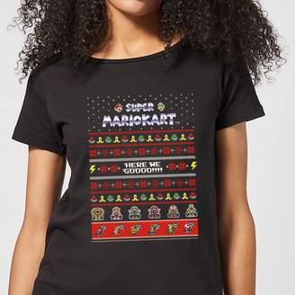 Nintendo Mario Kart Here We Go Women's Christmas T-Shirt