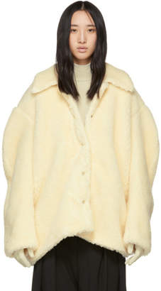 Awake Off-White Faux-Shearling Coat