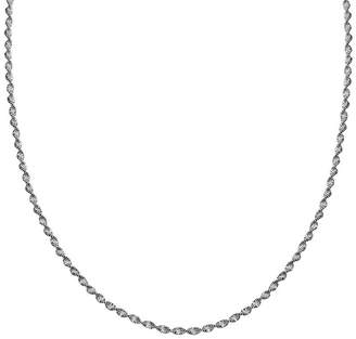 STERLING SILVER CHAINS Silver Reflections Sterling Silver Butterfly Twist 18 Chain Necklace