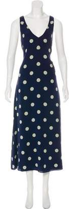Ralph Lauren Purple Label Silk Polka Dot Print Dress