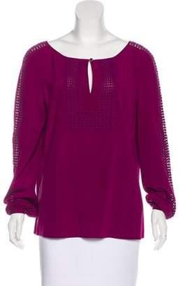 Tory Burch Crochet-Trimmed Silk Tunic