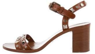 Dolce & Gabbana Studded Mid-Heel Sandals