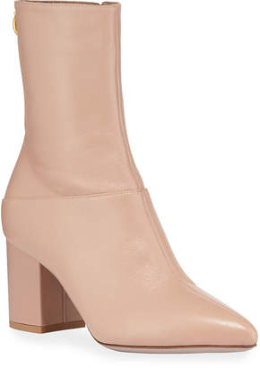 Valentino 70mm Ringstud Leather Booties