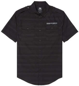 Ecko Unlimited Unltd Men Striped Chambray Woven Shirt