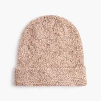 J.Crew Knit hat in Italian boucle yarn
