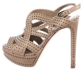Christian Dior Studded Leather Platform Sandals