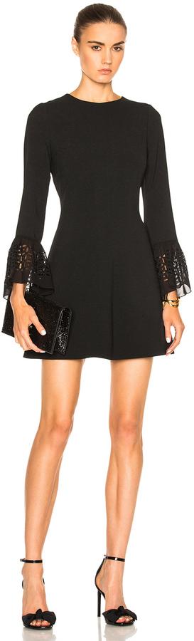 Saint LaurentSaint Laurent Embroidered Sleeve Dress