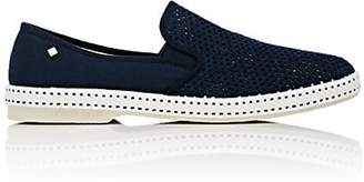 Rivieras Shoes Men's Classic 20 Degree Canvas & Mesh Loafers - Navy