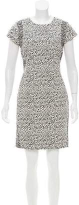 Diane von Furstenberg Pele Snake-Wave Jacquard Dress