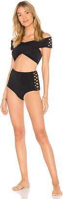 OYE Swimwear Lucette Lace Up Bikini Set
