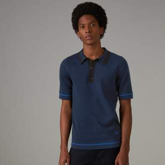 Burberry Tipped Cotton Jersey Polo Shirt