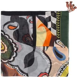 Etro paisley and geometric print scarf