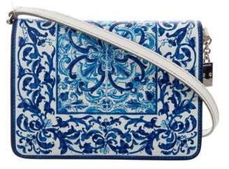 Dolce & Gabbana 2016 Majolica Print Crossbody Bag