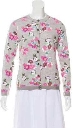 Thom Browne Floral Wool Cardigan