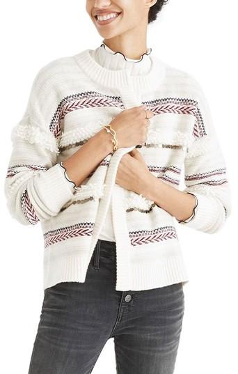 Madewell Paillette Stripe Cardigan