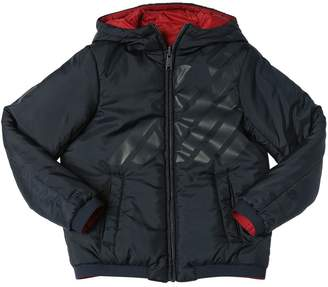 Emporio Armani Reversible Hooded Nylon Puffer Jacket