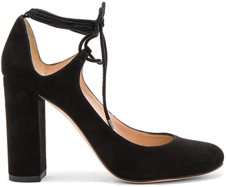 Pura Lopez Laced Ankle Heel $244 thestylecure.com