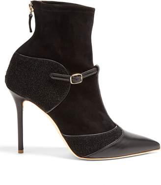 Malone Souliers Sadie leather and suede sock ankle boots