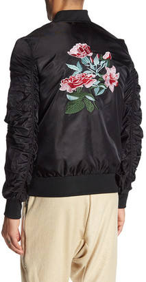 American Stitch Flower Embroidered Flight Jacket $175 thestylecure.com