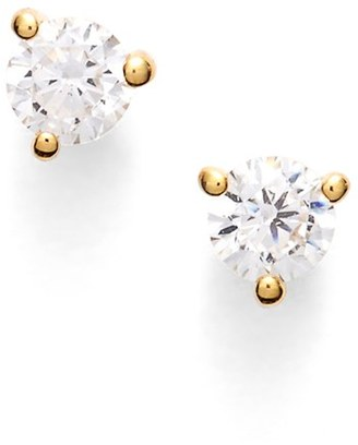 Women's Nordstrom Precious Metal Plated 0.25Ct Tw Cubic Zirconia Stud Earrings $34 thestylecure.com