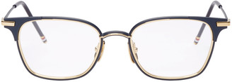 Thom Browne Navy TB107 Glasses $675 thestylecure.com