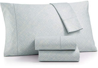 Hotel Collection Cotton 525-Thread Count 4-Pc. Crosshatch King Sheet Set, Created for Macy's