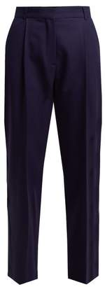 See by Chloe Smoking Straight Leg Trousers - Womens - Navy
