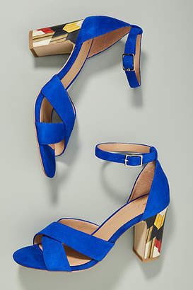 Anthropologie Cruz Heeled Sandals