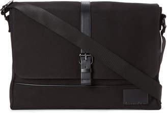 Calvin Klein Black Canvas Messenger Bag