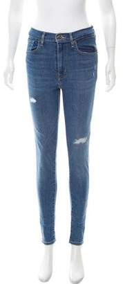 Levi's High-Rise Mile High Super Skinny Jeans