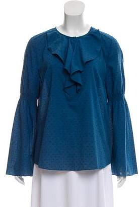 Rachel Zoe Swiss Dot Long Sleeve Top w/ Tags