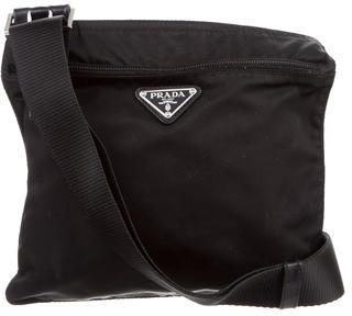 pradaPrada Vela & Leather Crossbody Bag
