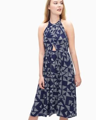 Splendid Sail Print Halter Dress