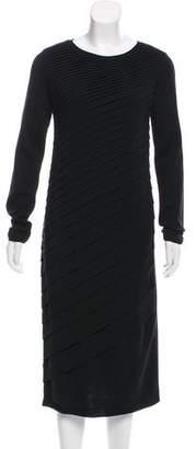 Valentino Pleat-Accented Midi Dress w/ Tags