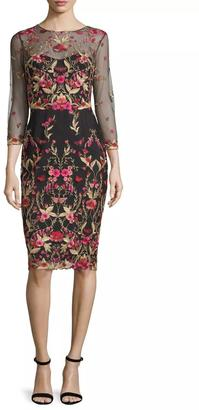 Notte by Marchesa 3/4 Sleeve Dress $795 thestylecure.com