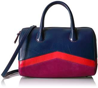 The Fix Bailee Color Block Top Handle Satchel Bag
