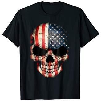 Chris T-Shirts Men's Short Sleeve T-Shirt Skull USA