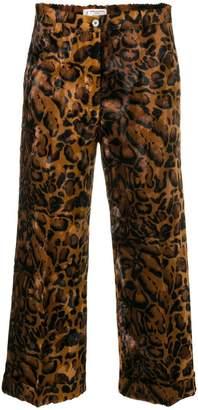 Alberto Biani cropped leopard trousers