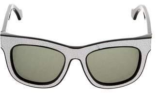 Balenciaga Tinted Logo Sunglasses w/ Tags