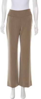Giorgio Armani High-Rise Wide-Leg Pants Beige High-Rise Wide-Leg Pants