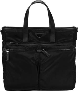 Prada Logo Plaque Shopper Briefcase