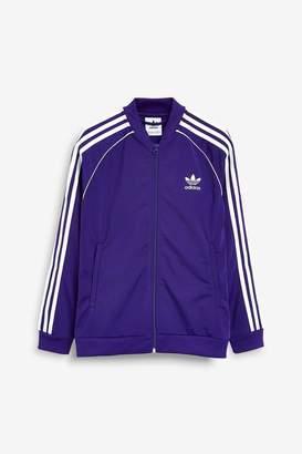 adidas Girls Purple Superstar Track Top - Purple