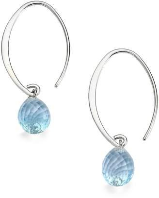 Saks Fifth Avenue Women's Blue Topaz & Sterling Silver Arc Earrings
