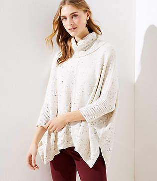 LOFT Turtleneck Poncho Sweater