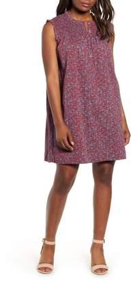 Caslon Smocked Shift Dress (Regular & Petite)